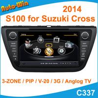"S100 8"" Car DVD GPS Player for Suzuki Cross 2014 Car Radio Audio Navigation Player with Radio DVD iPod USB SD V-20 Support DVR"