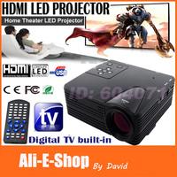 NEW LZ-H100 HDTV LED HDMI Digital Video Projectors 100 Lumens AV/VGA/SD/USB/ HDTV Projector Remote control Player Home Theater