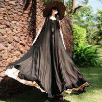 2014 spring summer loose chiffon beach dress women's color block plus size long maxi dress O-neck sleeveless bohemian tank dress