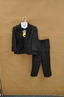 Freeshipping boys tuxedo suit for wedding child blazer clothing set 5pcs:coat+vest+shirt+tie+pants child formal dress for boy