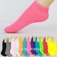 Women Girl Candy Color Ankle Socks Summer Sports Low Cut Fiber Cotton Short Sock