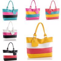 2014 New Brand Candy Color Striped Printed Women Handbags/Desginer PU Leather Handbags Women/Casual Women Shoulder Bags