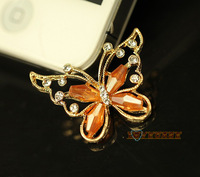 New 2014 crystal butterfly flat back alloy jewelry accessories with flower kawaii cabochons diy cell  phone case decorations