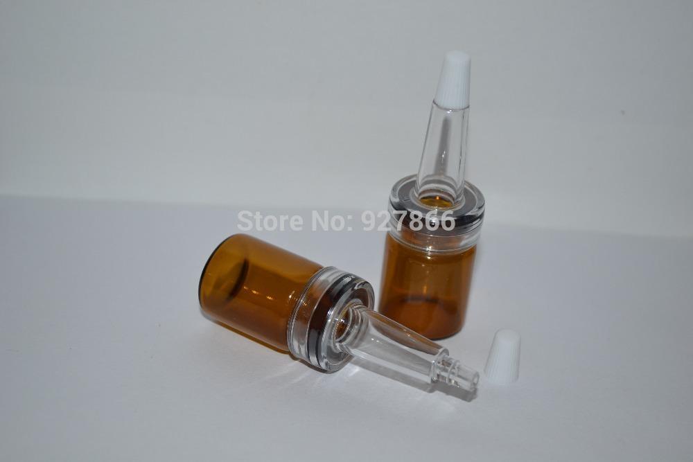 12pcs 7 ml de vidro âmbar Vial Frasco Com Trumpet Dropper Cap Para Óleo essencial , Perfumes / Cosméticos Serum Amostragem de embalagem(China (Mainland))