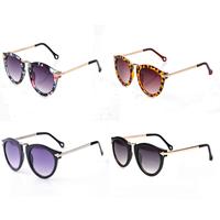 2015 Summer New Designer Oculos De Sol Feminino Sport Round Sunglasses Gafas De Sol Women Retro Black Sun Glasses Female