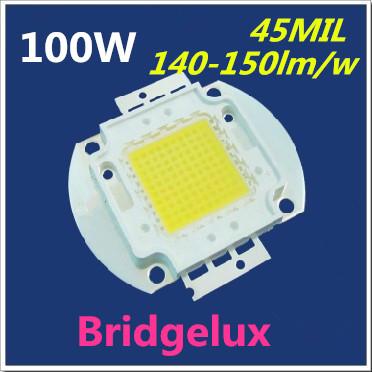 FREE SHIPPING 100W14000-15000LM Bridgleux 45MIL chip LED Bulb SMD Lamp Light High Power White LED floodlighting street lamp(China (Mainland))