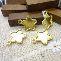 90  pcs Charms Frame Pendant  Gold color  Zinc Alloy Fit Bracelet Necklace DIY Metal Jewelry Findings