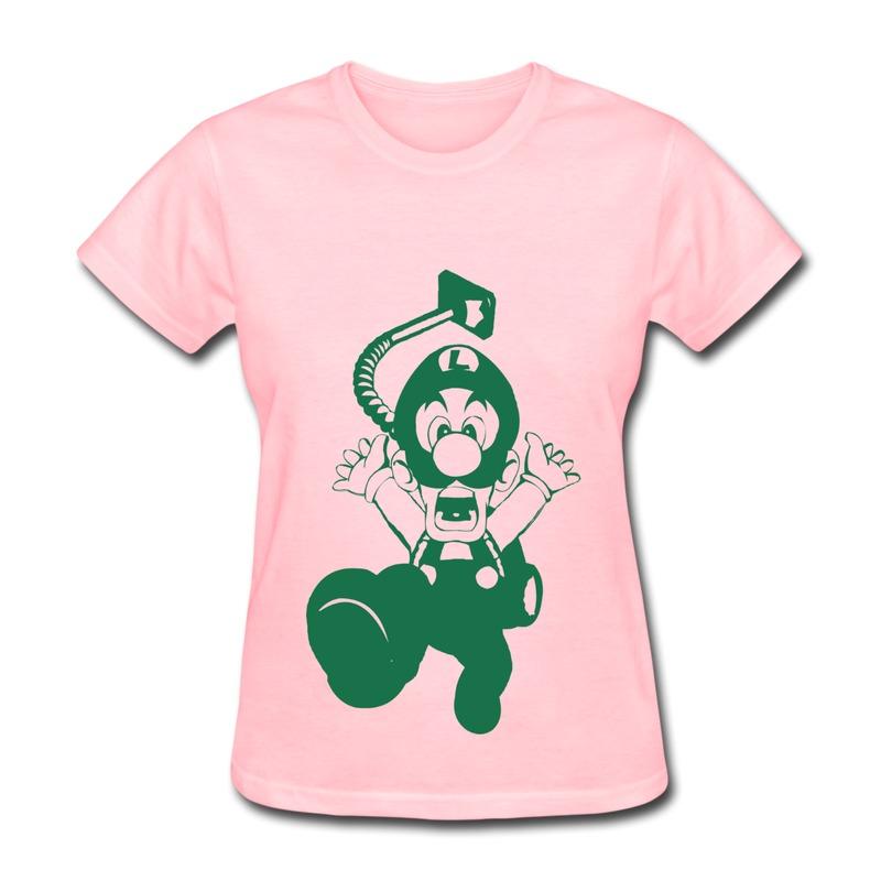 Brand New Slim Fit T Shirt Womens Something horrible is chasing mario T Shirts Women Custom(China (Mainland))