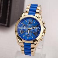 Free shipping 2014 new Blue Geneva brand quartz watch women luxury watch brand analog watches Top quality-EMSX00151-a