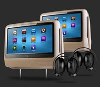 "2x9"" Touch Screen Car DVD Headrest Player, Detachable,headphone jack, 32bits Game, DVD/USB/SD, IR/FM Ttransmitter"