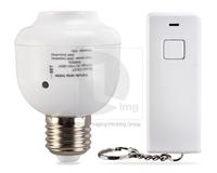 Led Light E27 10M Screw Wireless Remote Control Light Lamp Bulb Holder Cap Switch Socket Mount Strip P0005507 Free Shipping