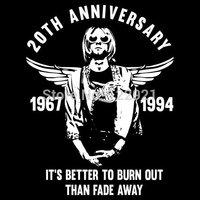 High quality  Nirvana Kurt Cobain 2Oth anniversary  Grunge rock band casual fashion tee t-shirt dress camiseta clothing