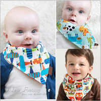 5pcs Baby Girl Boy Kids Newborn Infant Toddler Burp Cloth Scarves Bandana Bibs Saliva Dribble Triangle Head Scarf