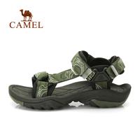 Camel outdoor sandals 2014 male slip-resistant rubber sole jacquard webbing beach sandals 412036001