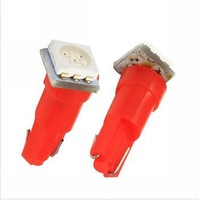 100 X free shipping Car T5 74 5050 SMD 1 LED Instrument lamp Dashboard Reverse Light Clearance Bulb DC 12V New wholesale