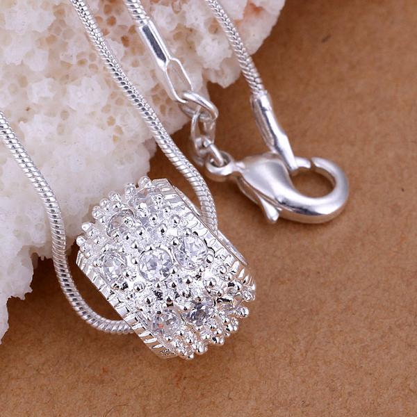 shamballa necklace, women crystal necklace pendents cheap jewelry free shipping LKNSPCP024(China (Mainland))