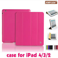 hot!Smart Case For iPad 4 3 2 Cover Stand Tablet Designer Ultra thin Leather Cover for ipad leather case rose color wholesale
