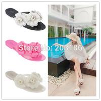 2014 Women's flower slipper For Melissa shoes new flat Jelly sandals