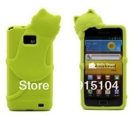 Silicone Case Cover For Samsung Galaxy S2 i9100, promotion price free shipping, retail/wholesale