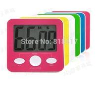 10pcs Oversized electronic LED kitchen timer big screen household reminder magnetic multicolor energy saving switch secondmeter