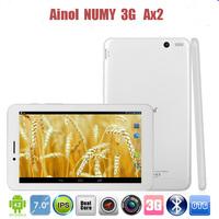 Original Ainol AX2 Quad core 3G Phone Call 7 inch Tablet PC MTK8382 Android 4.2 512MB/8GB ROM GPS Bluetooth Dual Camera Dual SIM