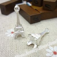 110 pcs Charms Eiffel Tower  Pendant  Bright silver  Zinc Alloy Fit Bracelet Necklace DIY Metal Jewelry Findings