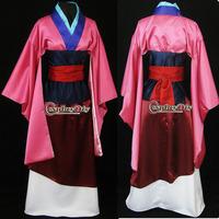 Free Shipping Customized Movie Cosplay Costume Mulan Princess Dress
