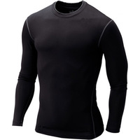Free shipping Men tight long-sleeved PRO sports fitness training quick-drying 6 Colors XXL  T-shirt