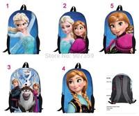 Frozen Cartoon Backpacks Anna Elsa Olef Frozen Princess Children Bags Student School Bag free shipping 10pcs/lot