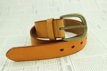 cheap orange leather belt