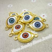 Mix 40 pcs Charms Ring Pendant  Gold color  Zinc Alloy Fit Bracelet Necklace DIY Metal Jewelry Findings