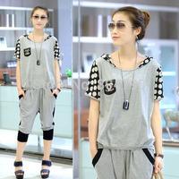 2014 Summer&Spring Women's Sport Suit  short sleeve Leisure suit Sweater Suit,size M/L/XL/XXL