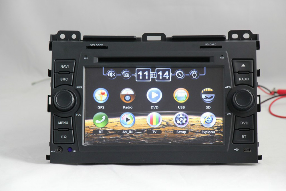 Toyota Prado 120 Car Cassette receiver Support DVD GPS BT Radio Ipod 3G SUB ATV FM 14 [ sony xplod deck manual ] 1996 vw golf 2 0l 8v aba 5spd gti  at mifinder.co