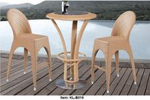 Garden Bar Stool & Table,Outdoor Patio Rattan Bar Set Iron frame, All Weather Furniture,PE Wicker rattan Garden Bar Set(China (Mainland))