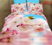 Home decor 3D Oil Printed Plum blossom Bedding Sets High quality Bedding Set Cotton Bedcover Bed Sheet Quilt Duvet Cover set