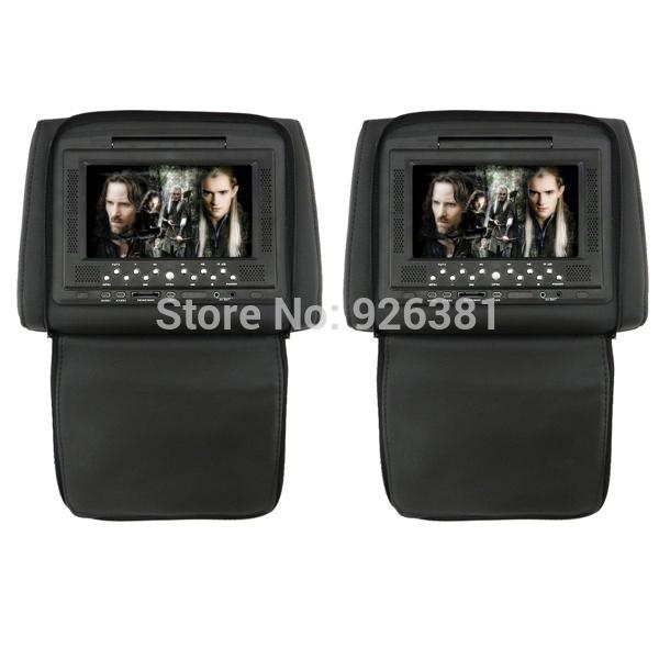 "7"" LCD Screen Car Headrest DVD Media Player (DC 12V / 2 PCS)(China (Mainland))"