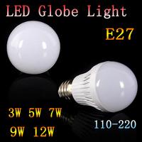 5pcs/lot  High quality Led Bulb Lamp AC 110V /220V  LED Bulb Lamp 2835SMD E27 Light Bulb 3W 5W 7W 9W 12W led light solar bulbs
