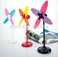 New arrivral retail children creative mini USB & battery desk fans computer mute DIY air fan top quality 3 colors