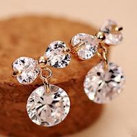 B342 NEW 2014 Fashion Senior zircon  bowknot  earrings crystal jewelry