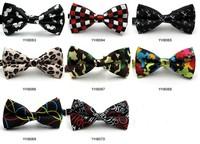 Mix Wholesale Men women Dress Scottish Plaid Striped Bow Tie Polka dot bow tie Leopard Skull print Neck Tie Men Gift