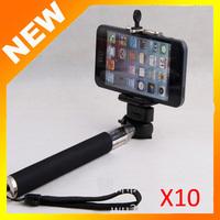 1sets (1pcs monopod +1pcs clip holder) Mobile Phone Monopod and 5.0-8.5cm universal Clip for iPhone5 phone accessories