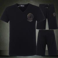 2014 summer New Sportswear Fashion Men's Casual Sports Suit Tracksuit Man Coat Jacket + Pants Male Sweatshirts Sets