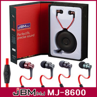 Free shipping DHL 20pcs/lot JBM MJ8600 in-ear earphone headset headphone With mic/control talk for Smart mobile phone computer