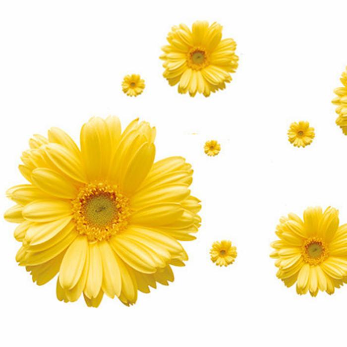 Pflanzen blume tapete daisy aufkleber gelb wandsticker tv einstellung wand aufkleber sofa