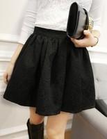 Octopussy embossed small jacquard involucres high waist skirt elastic short skirt bust skirt color black white