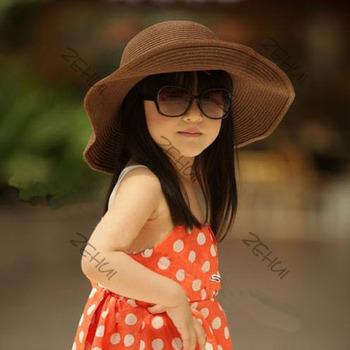 Девушки дети большой краев соломенная шляпа фетровая шляпа дети дерби панама солнцезащитный козырек кепки бесплатная доставка