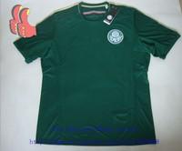 A+++ Real Photos Top Men Thailand Brasil Palmeiras FC 2014 Brazil Thai Palmeira New Home Soccer Jersey Football Shirt Futbol Kit