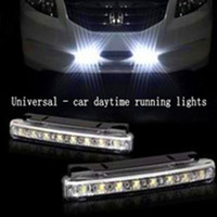 Universal - New 12V-run car waterproof 16 LED white car day vehicle registration beacon - Automotive LED daytime running lights