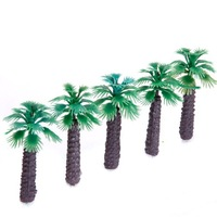 100pcs 2 inch Model Palm Trees Layout Train Scale 1/400