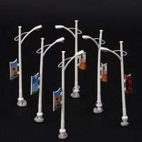 200pcs Model Single Head Street Lights Lamppost w/ Billboard Scale 1/75